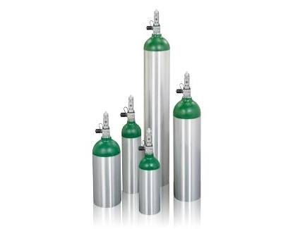 Home oxygen equipment cylinders
